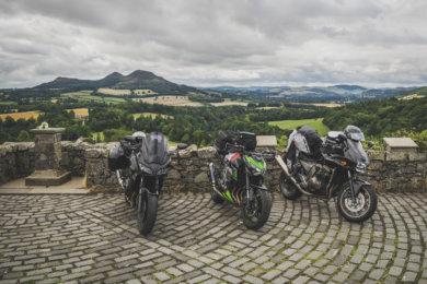 Schottland: Die Motorräder am Scott's View